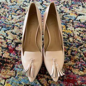 Banana Republic Pink Avila Tassel Heels 7.5